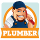 Plumber Mascot - GraphicRiver Item for Sale