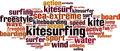 Kitesurfing Word Cloud Concept - PhotoDune Item for Sale