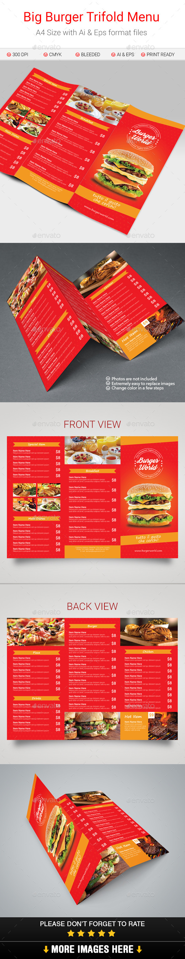 GraphicRiver Big Burger Trifold Menu 10843686