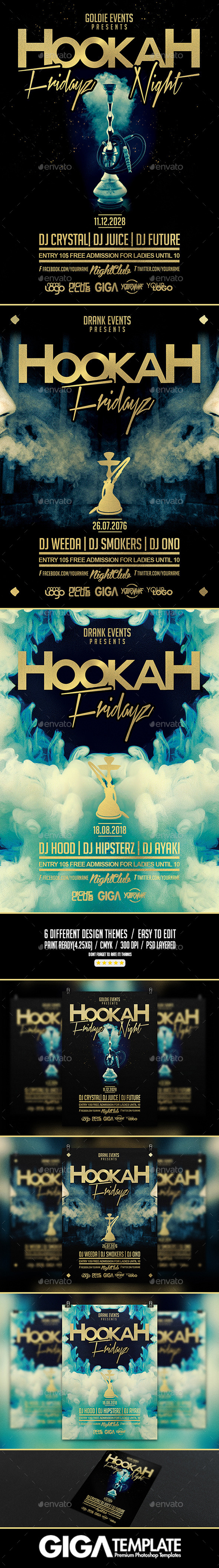 GraphicRiver Hookah Fridayz Night Party PSD Flyer Template 10843732