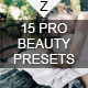 15 Pro Beauty Presets - GraphicRiver Item for Sale
