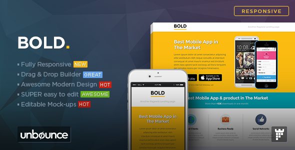 ThemeForest BOLD Unbounce App Landing Page Template 10843862