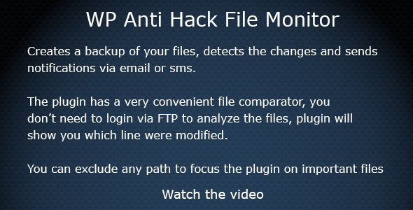 CodeCanyon WP Anti Hack File Monitor 10802671