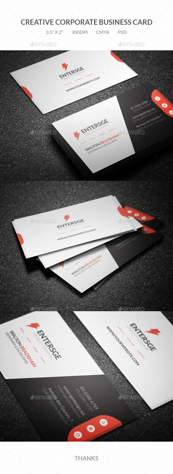 GraphicRiver Creative Corporate Business Card 10846053