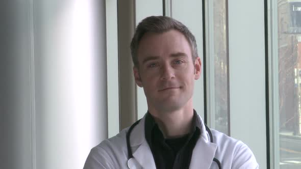 Male Doctor Smiles Confidently