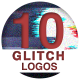 10 Glitch Logos - VideoHive Item for Sale
