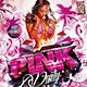 Flyer Pink Party Konnekt - GraphicRiver Item for Sale