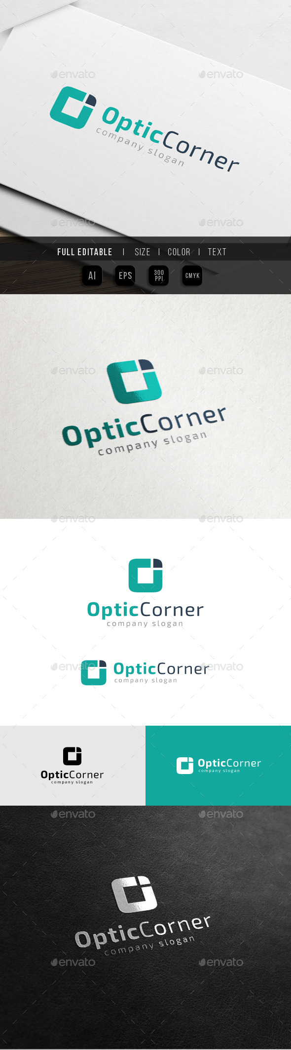 GraphicRiver Optic Corner Letter O Logo 10848500