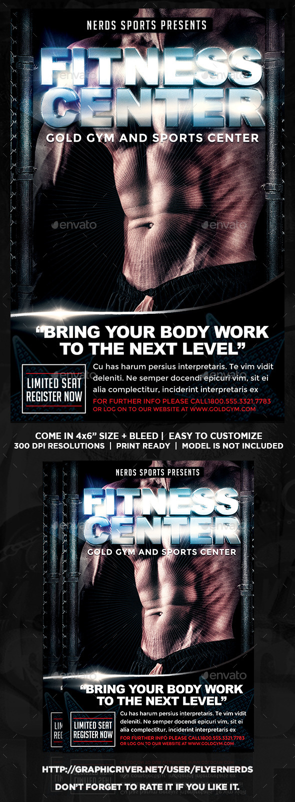 GraphicRiver Gym and Fitness Sports Flyer 10848596