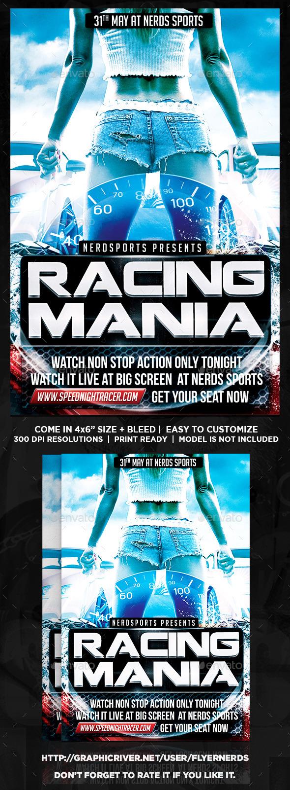 GraphicRiver Car Race Sports Flyer 10848599