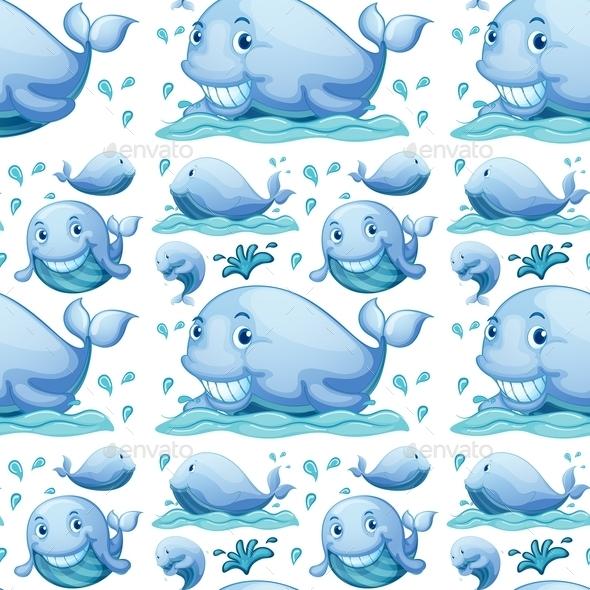 GraphicRiver Seamless Whale 10848974