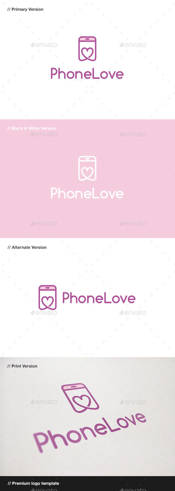GraphicRiver Phone Love Logo 10849070