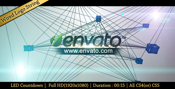 After Effects Project - VideoHive Wired Logo String 1088601