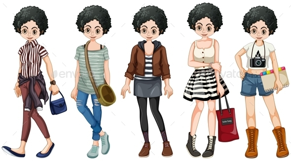 GraphicRiver Female Hipster 10849318