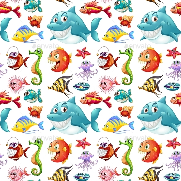 GraphicRiver Seamless Fish 10849495