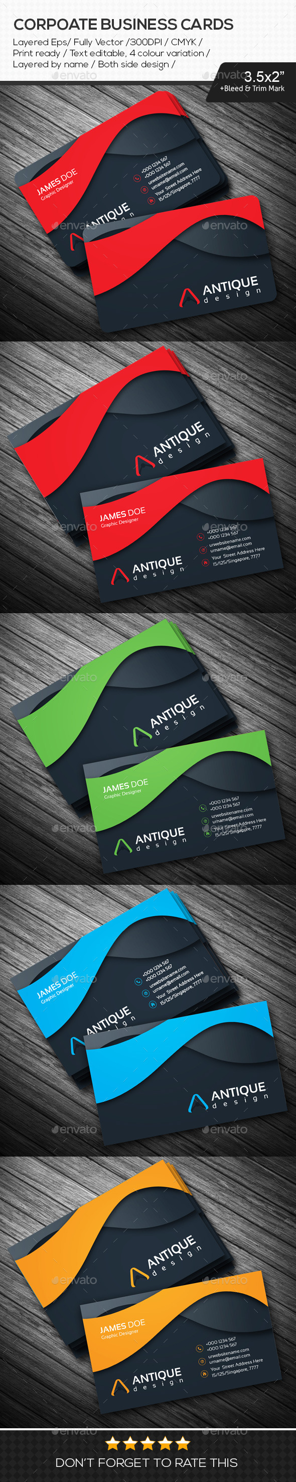 GraphicRiver Antique Design Corporate Business Cards 10849526