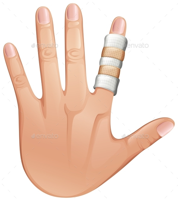 GraphicRiver First Aid Treatment on Finger 10849707