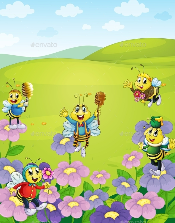 GraphicRiver Bees in Nature 10849731