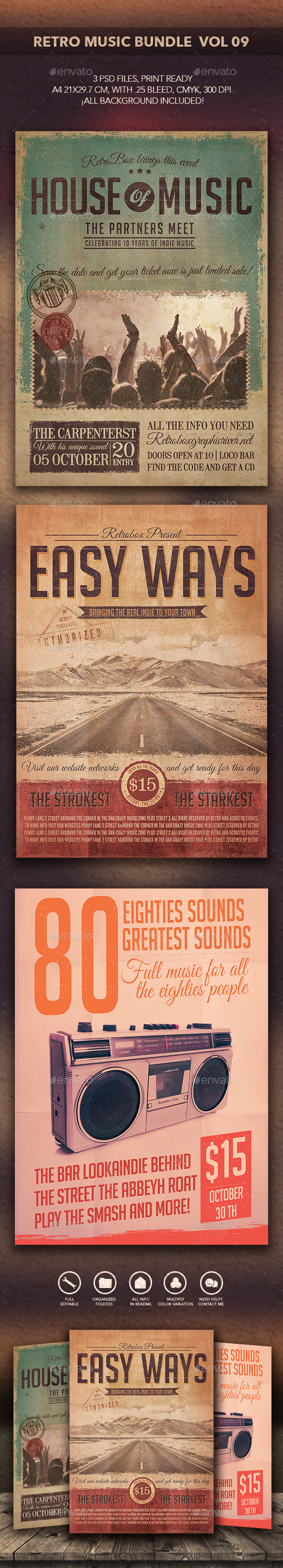 GraphicRiver Retro Music Bundle Vol 09 10850036