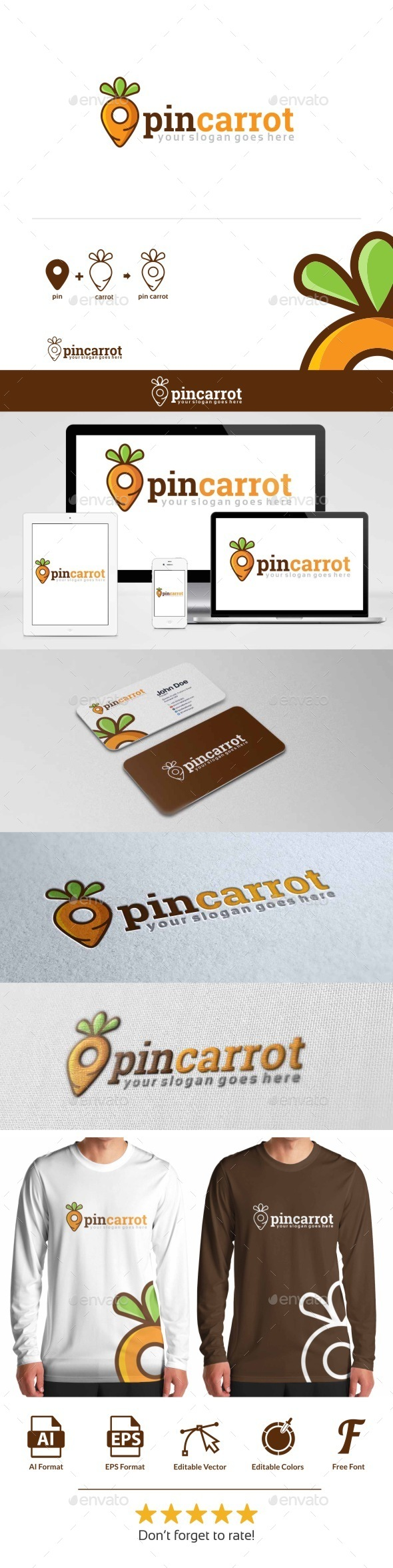 GraphicRiver Pin Carrot Logo 10850102