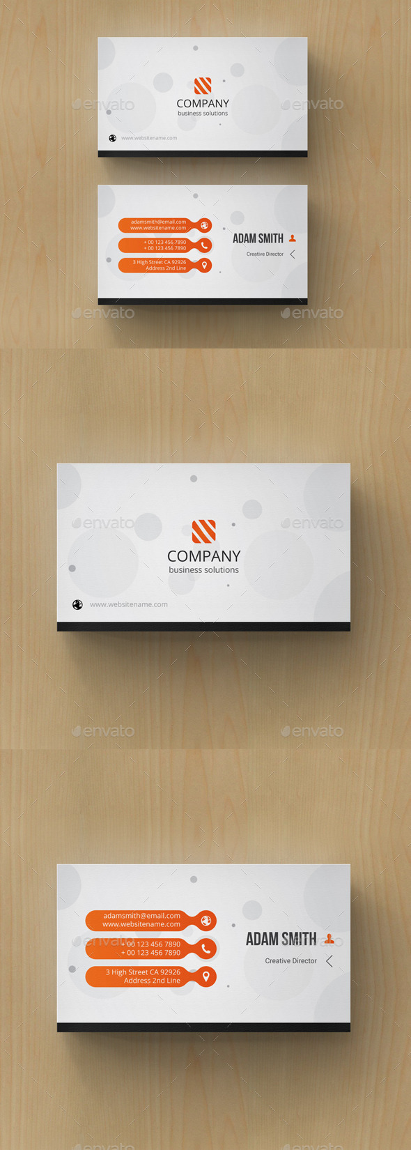 GraphicRiver Minimal Abstract Business Card 10852043