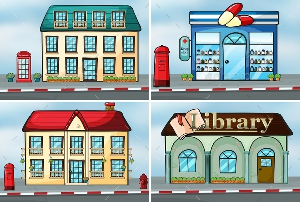 GraphicRiver Houses and Shops 10852056