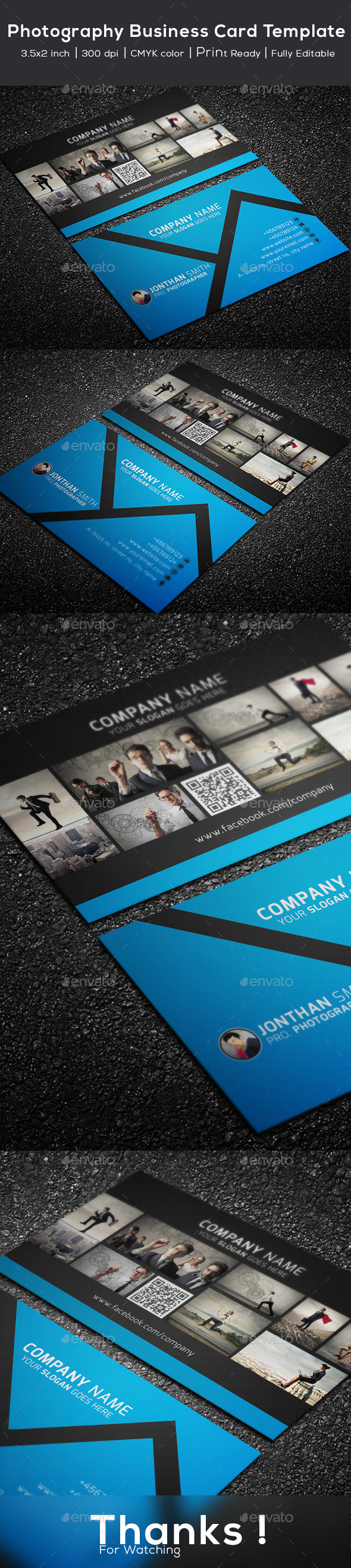 GraphicRiver Photography Business Card Template 10852200