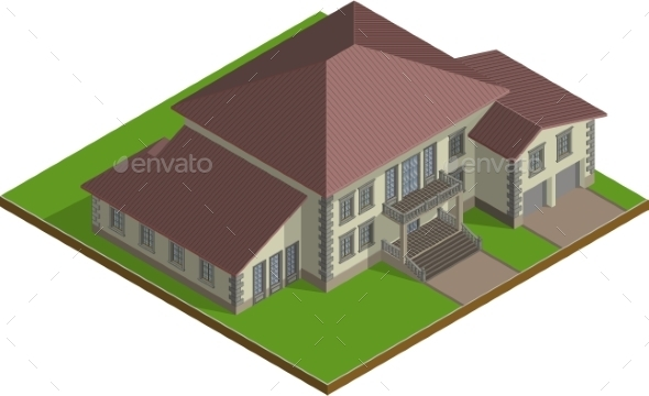 GraphicRiver Estate Isometric 10852202
