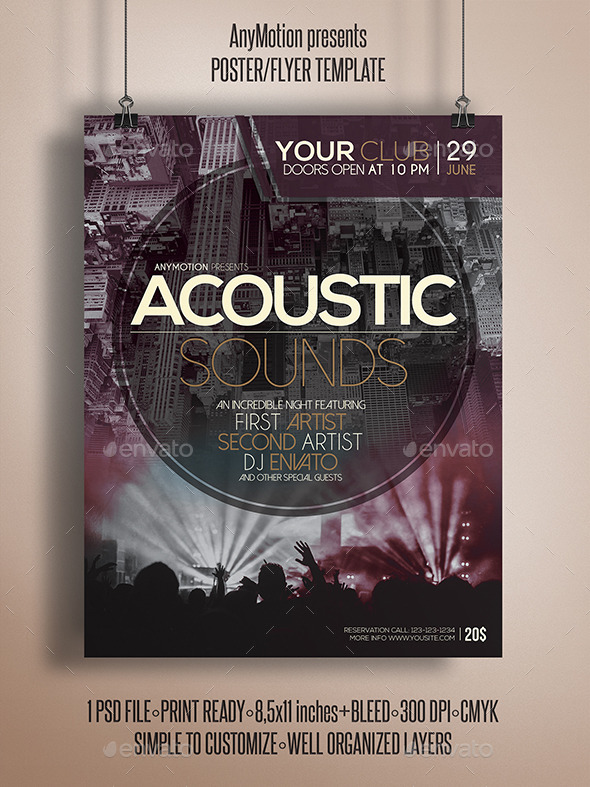 GraphicRiver Acoustic Sounds Flyer Template 10784603