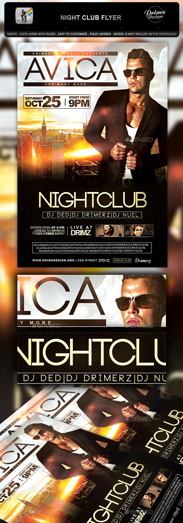 GraphicRiver Night Club Flyer 10852329