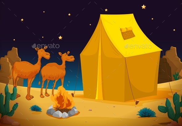 GraphicRiver Camels and Tents 10852433