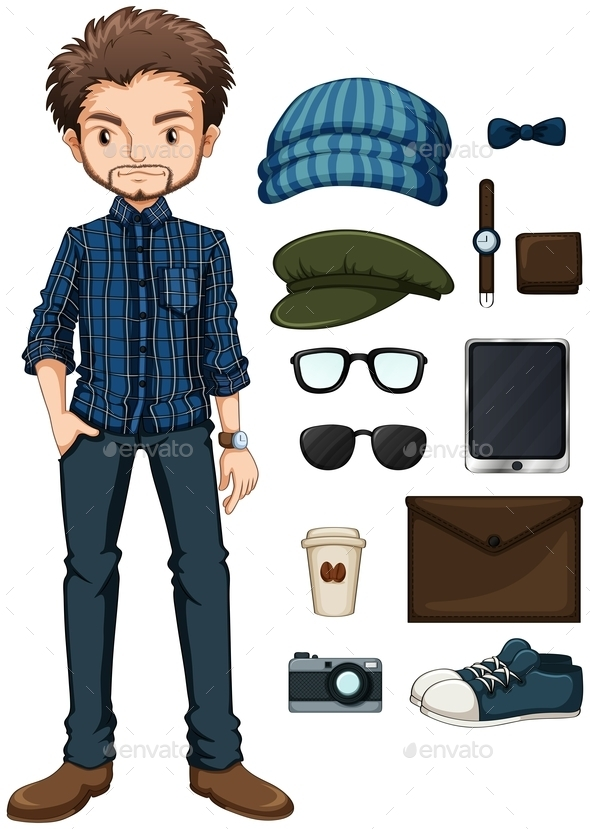 GraphicRiver Hipster Man 10852448