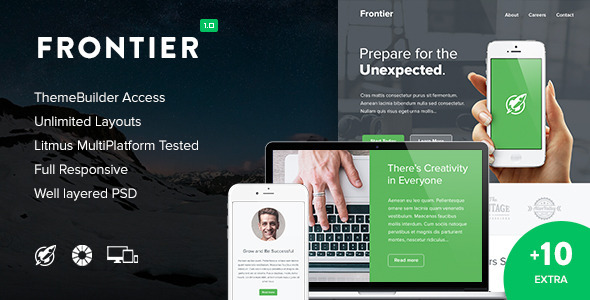 ThemeForest Frontier & 10 Notify Templates & Themebuilder 10815243