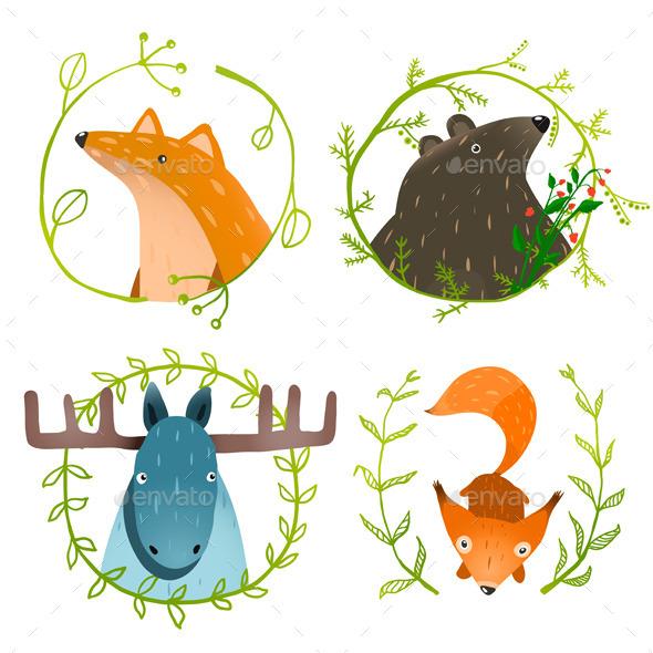 GraphicRiver Wild Forest Animals Set 10852782