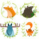 Wild Forest Animals Set - GraphicRiver Item for Sale