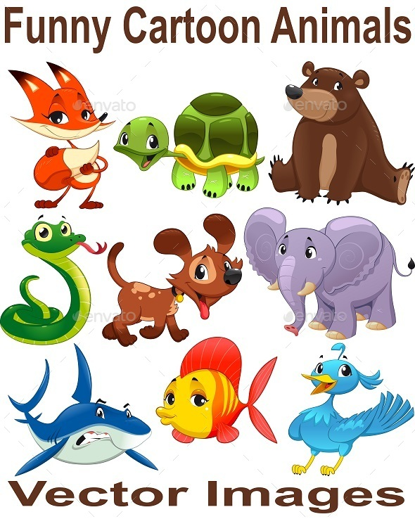 GraphicRiver Cartoon Animals 10852911