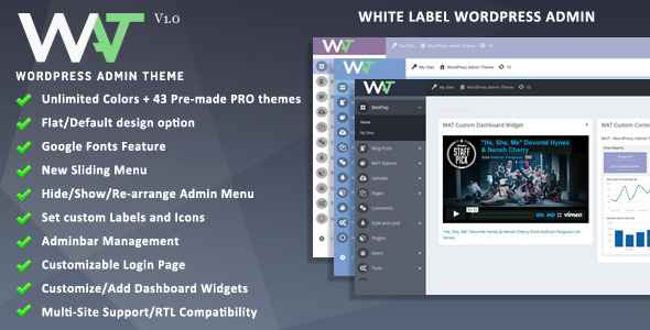 CodeCanyon WordPress Admin Theme 10822456
