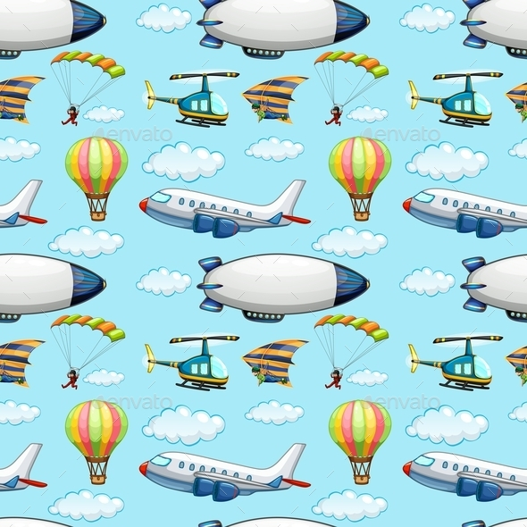 GraphicRiver Seamless Planes 10853267