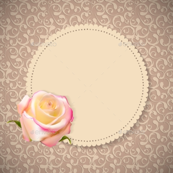 GraphicRiver Floral Card with Rose Flower 10853274
