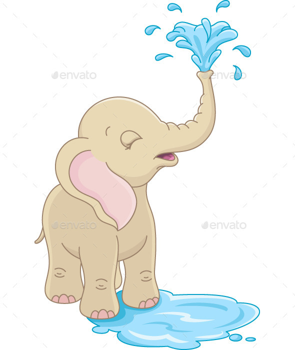 GraphicRiver Baby Elephant 10853415