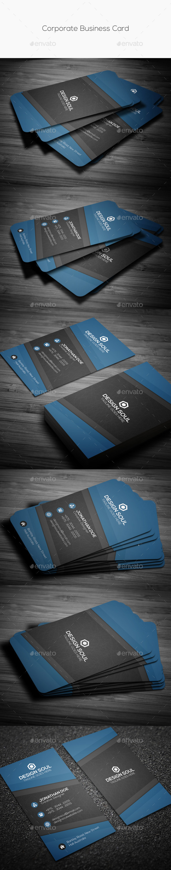 GraphicRiver Corporate Business Card 10853425