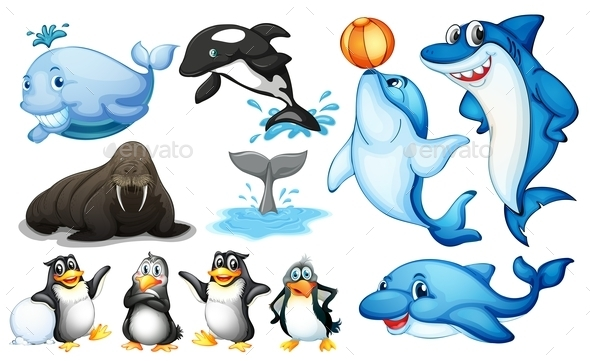 GraphicRiver Sea Creatures 10853427