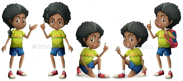 GraphicRiver African Boy 10853522