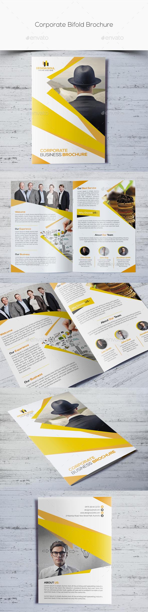GraphicRiver Corporate Bifold Brochure 10853537