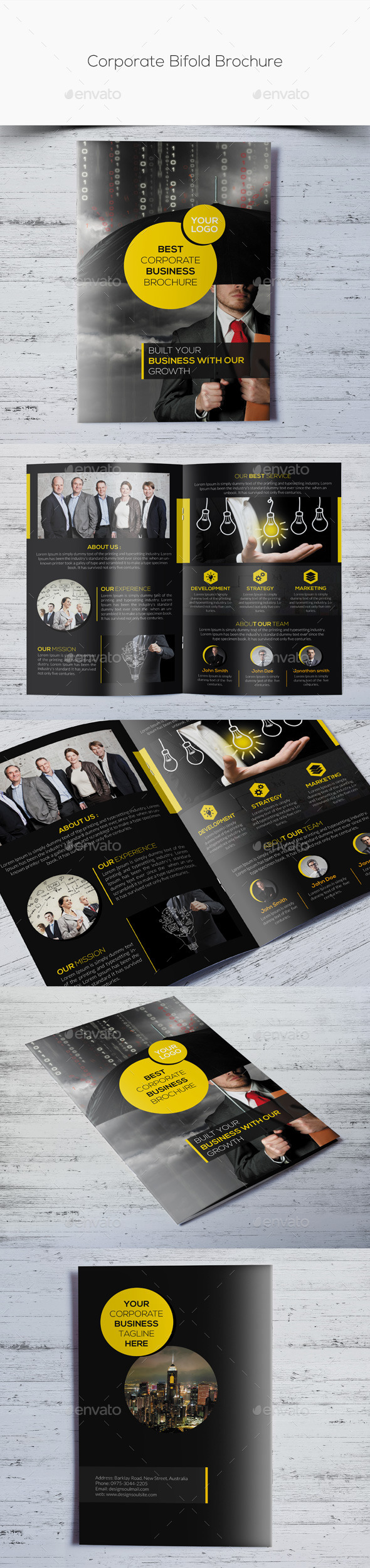 GraphicRiver Corporate Bifold Brochure 10853588