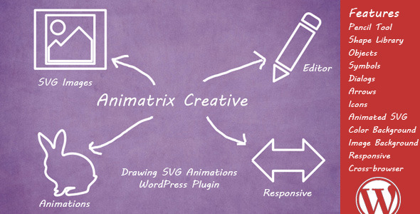 CodeCanyon Animatrix Creative Drawing SVG Animations Plugin 10853599