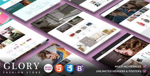 ThemeForest Glory Multipurpose WooCommerce WordPress Theme 10853615