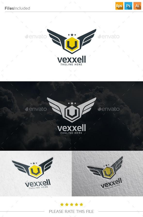 GraphicRiver V Wings Logo 10853673