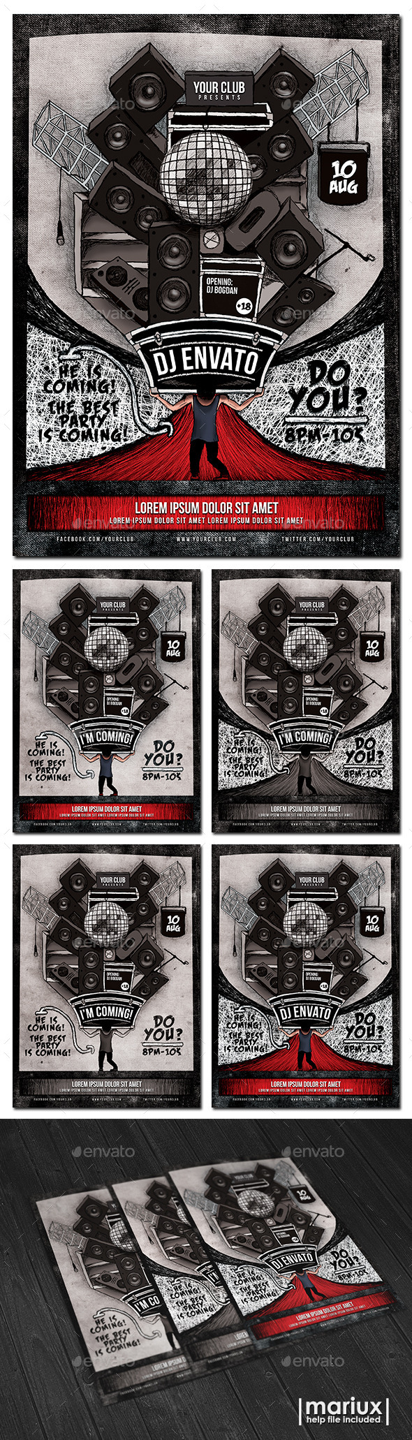 GraphicRiver Guest DJ Flyer Poster 10785444