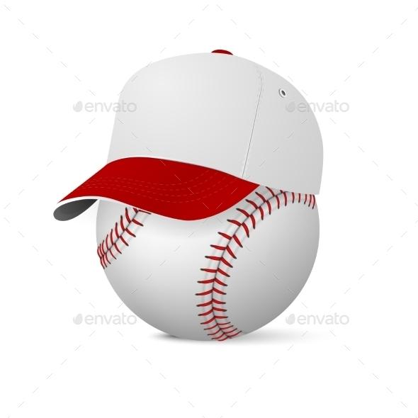 GraphicRiver Baseball Cap on Baseball 10853920